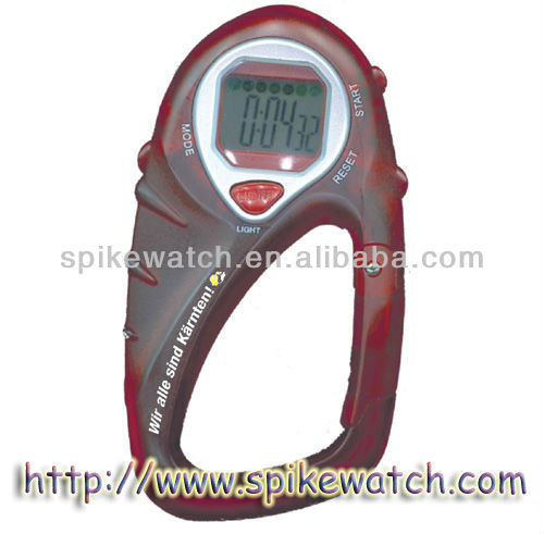 Cheap plastic digital carabiner women's clip watches
