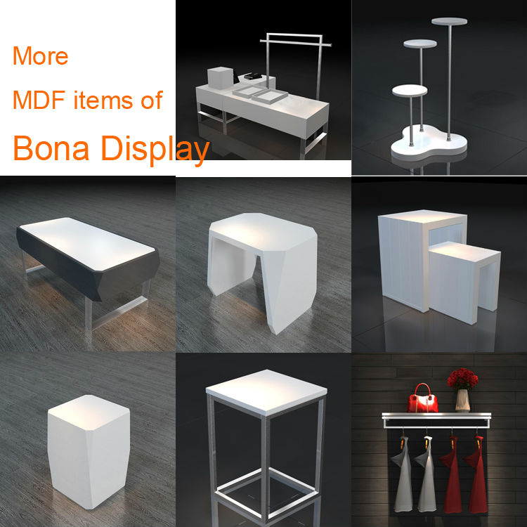 Promotion White Mdf Nesting Display Tables For Retail