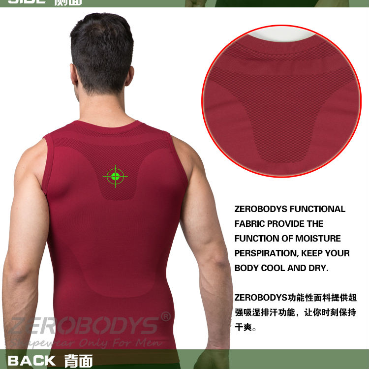 390 RD ZEROBODYS Outdoor Mens Body Shaper Quick Dry Vest Crop Top Vest Yoga Sport Top for Men Fitness Sport Crop Tank Top