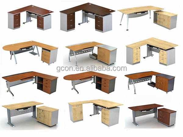 Muebles de oficina de melamina en forma de l de escritorio for Escritorios de oficina lima