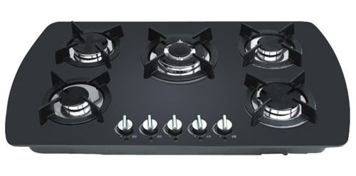 5 Burners Glass Type Built In Gas Stove/gas Hob/gas Cooker