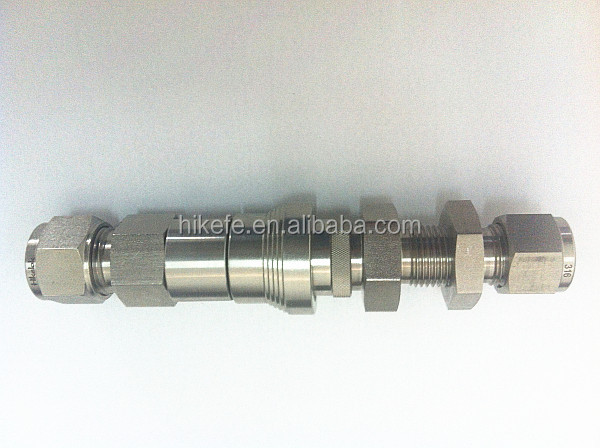 3000 Psi Ss316 Quick Connector Swagelok Tube Fittings