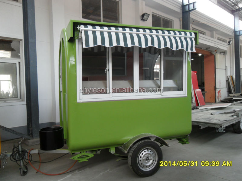 Green Color Fast Food Mobile Concession Trailer For Sale ...