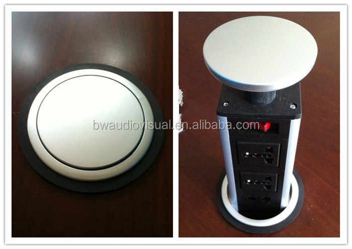 BW Hidden Pop Up Kitchen Countertop Outlet / Table Top Eletric Socket Box