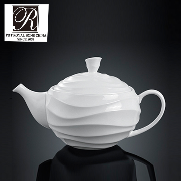 P&T porcelain factory porcelain coffee pot white ceramic tea pots