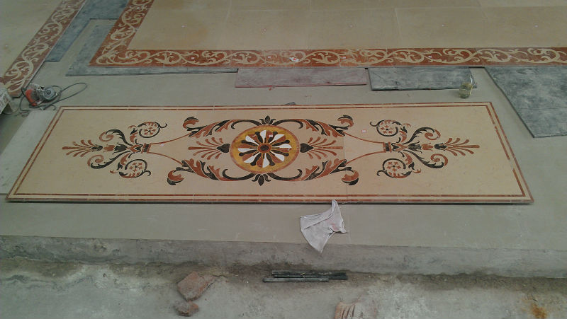 Marble Inlay Flooring Designs : Marble floor inlay designs gurus
