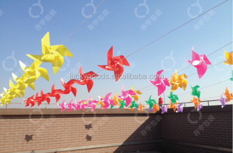 custom wholesale outdoor decorative plastic pinwheel
