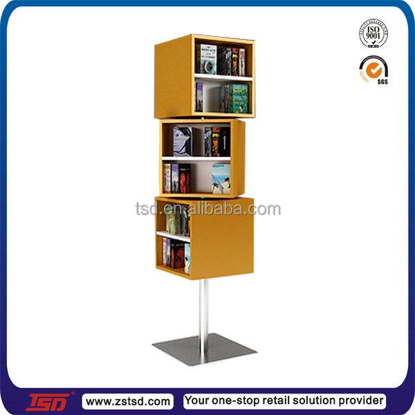 Tsd W810 Custom Retail Shop Floor Rotating Wooden Book