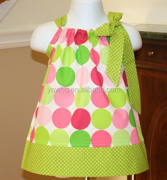2014new Design Baby Dress Short Sleeve Girls Party Wear Dress For ...