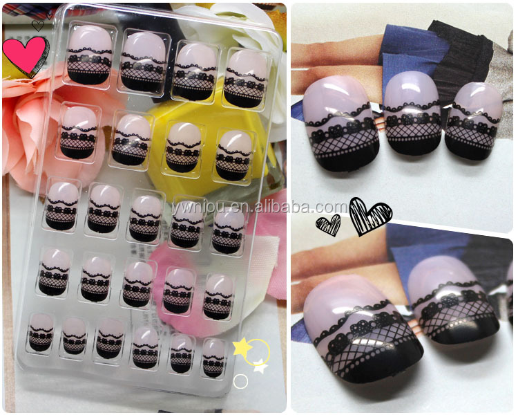 Private Package Colorful Lovely Kids Press On False Nails Tip Full ...
