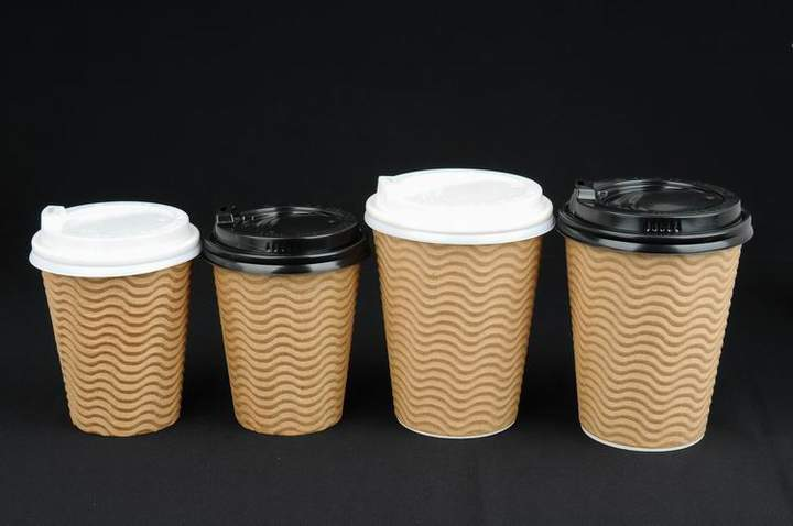 logo printed disposable hot coffee paper cup