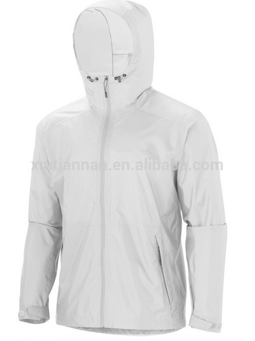 Spring Waterproof Lightweight Windbreaker Jacket Mens White ...