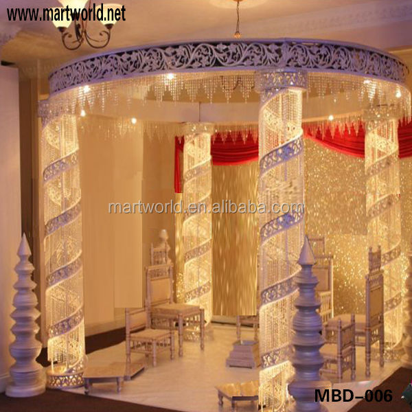 2018 New Design Indian Wedding Stages Decorations Crystal Bead Wedding DecorationsWedding
