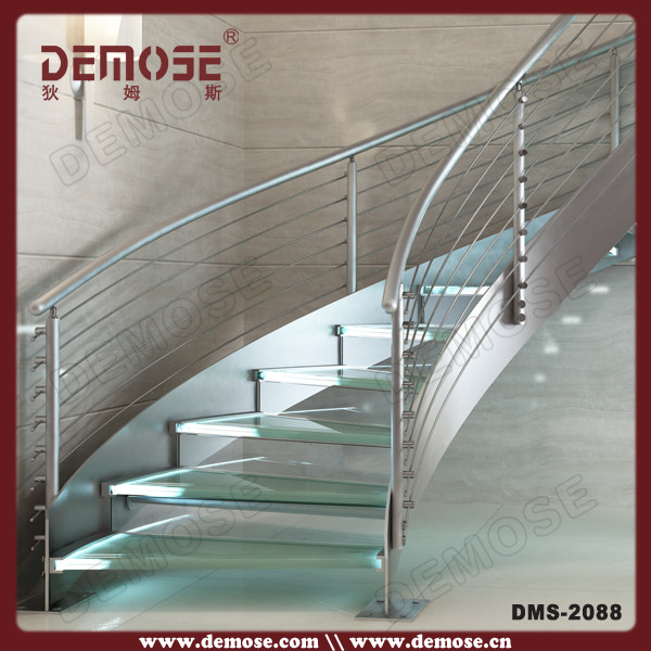 Stainless Steel Glass Stairs Grill Design Buy Glass Stairs Grill