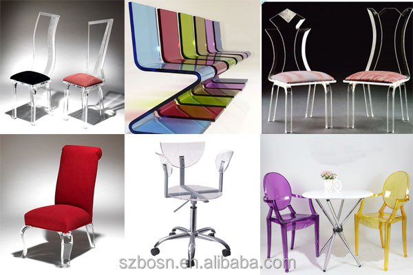 Hot sale high quality acrylic chair, acrylic salon furniture for sale with styling chair salon furniture