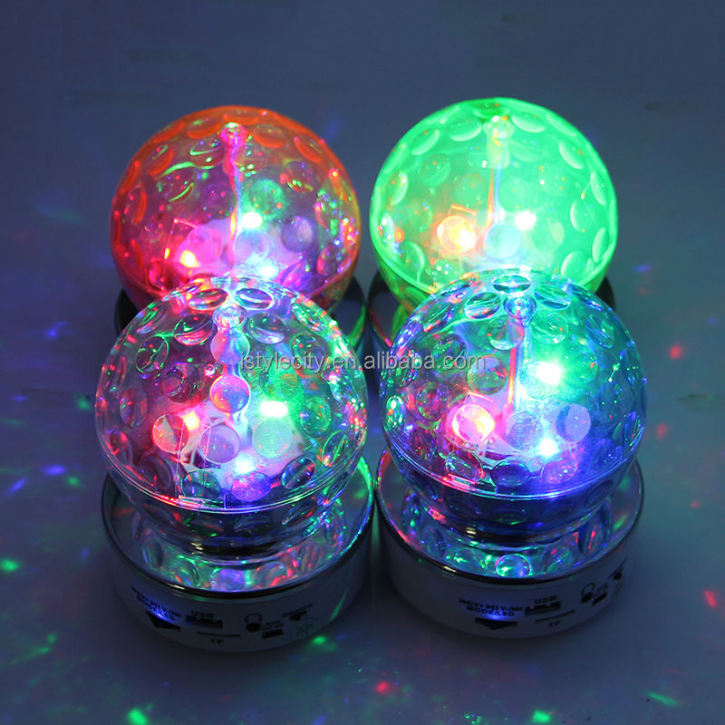 2 in 1 Led stage light Crystal Magic Ball light mini speaker for Party