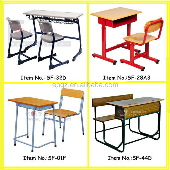 Egg-Tube School Adjustable Desk And Chair Furniture For Senior Students