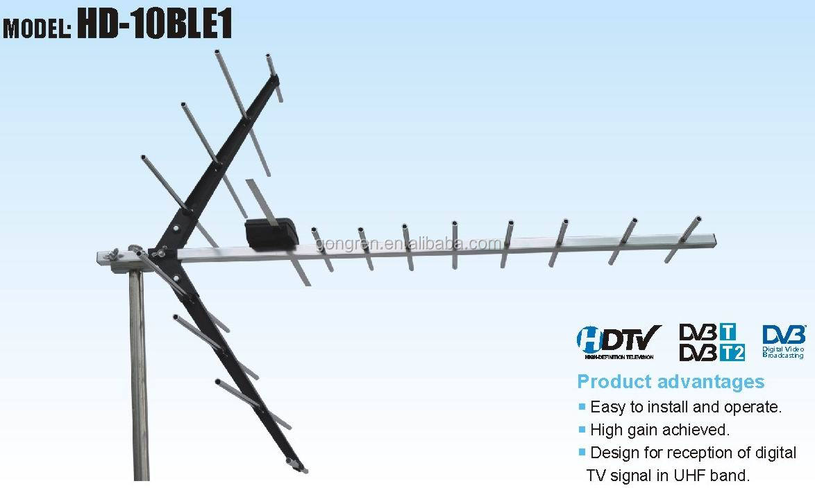 Outdoor dvb t antenna high gain uhf tv power amplifier - Antena exterior tv ...