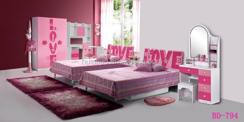 Kids bedroom furniture modern dressing table with mirrors for Mirrors for kids rooms