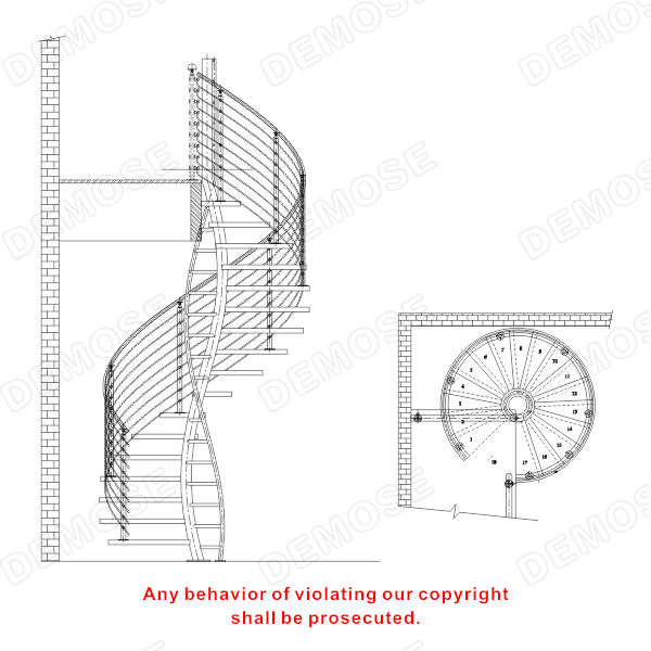 Curved Spiral Staircase For Sale Buy Modern Spiral