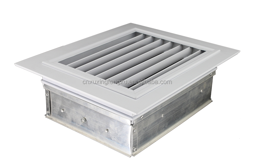 Hvac Aluminum Air Grille Opposed Blade Damper With Handle