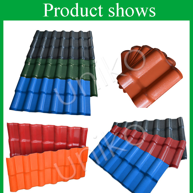 2016 Design Lasting Beautiful Coloer Synthetic Resin Roof Tile/ Plastic Shed  Roof