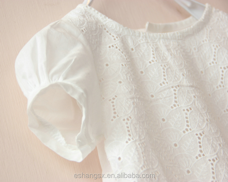 White Cotton Lace Blouse 88
