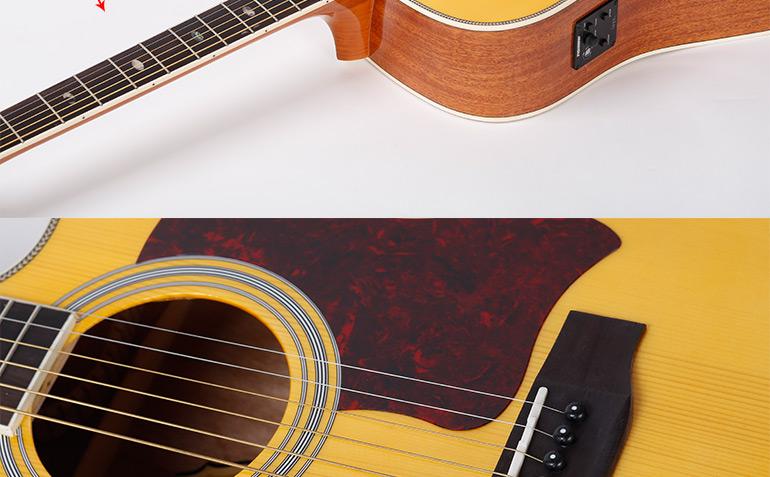 Beautiful Design Guitar With Nato Guitar Neck,Ag620sce