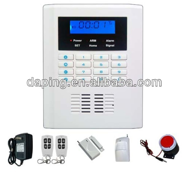 Intelligent wireless home security gsm pstn dual network for Buy house alarm system