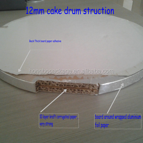 Round Silve Corrugated Cake Board Cake Drum 1 2 Quot Thick
