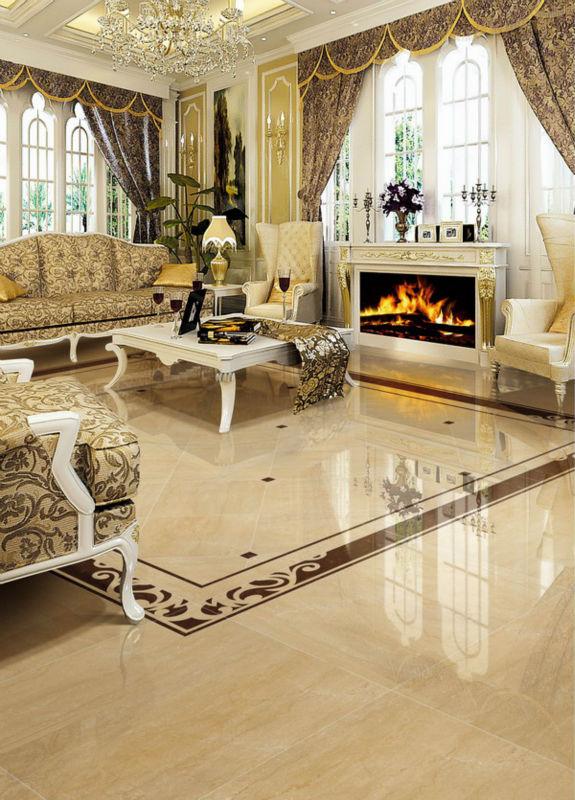 Polished Porcelain Floor Tiles Living Room Sales