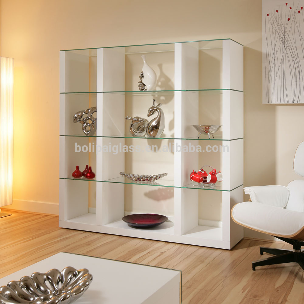 Wholesale wall mount floating glass shelf for living room - Glass corner shelf for living room ...