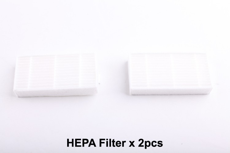 (For X500) Spare Parts Pack for Robot Vacuum Cleaner, Include Side Brush x 4+Primary Filter x 2+HEPA Filter x 2+Front Wheel x 2