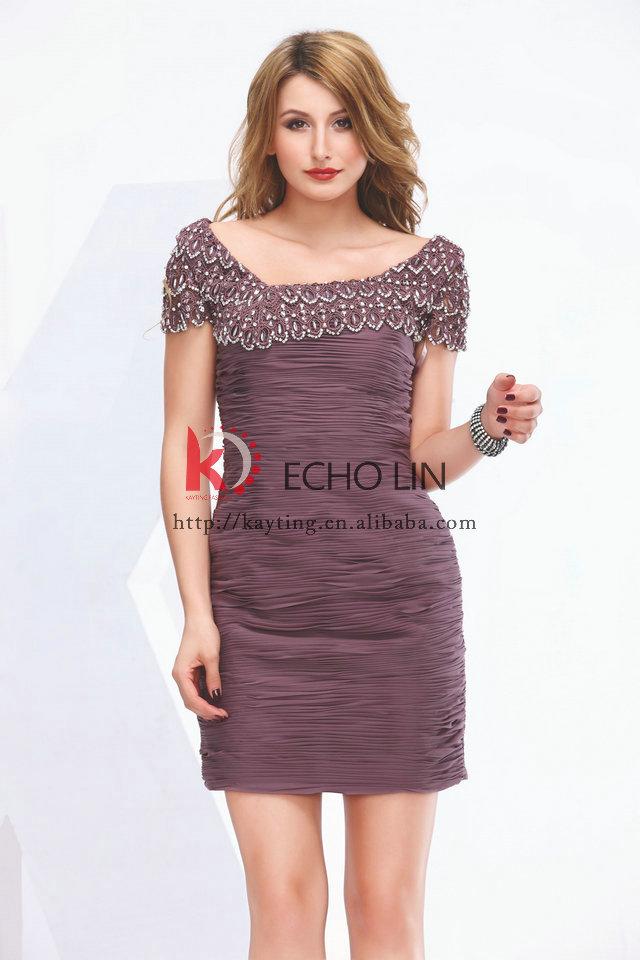 Ready To Ship Wholesale Muslim Evening Dress Short Cocktail Dress ...