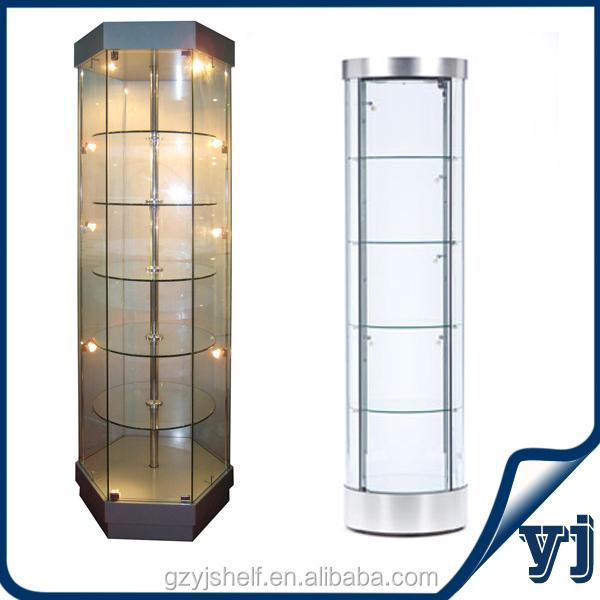 China Fabricage Glas Luxe Verlichting Vitrine/glas Hoek Vitrine ...
