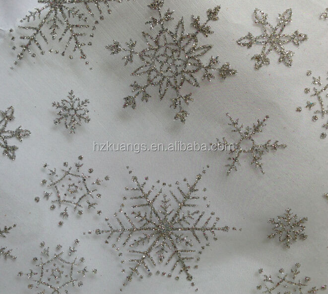 Curtains Ideas christmas curtain fabric : New Winter Christmas Snowflake Icicle Glitter Fabric Shower ...