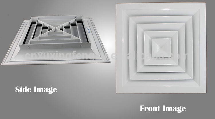 Hvac 4 Way Supply Air Conditioning Ceiling Air Diffuser