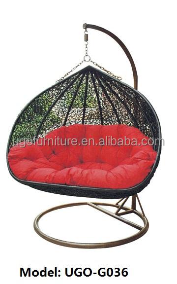 Garden Furniture Wicker Type Hanging Egg Chair With Waterproof ...