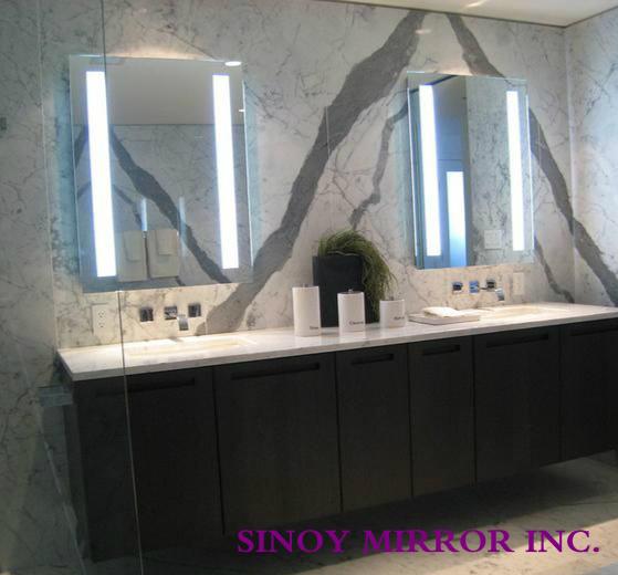 Silver Mirror Made Sandblasting Bathroom Mirror For Led Backlit ...