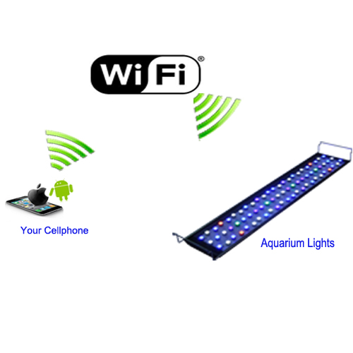 Wireless Dimmable Sunset Sunrise 90w Led Aquarium Light: Hot Sale Dimmable And Programmable Cost-effective Wifi