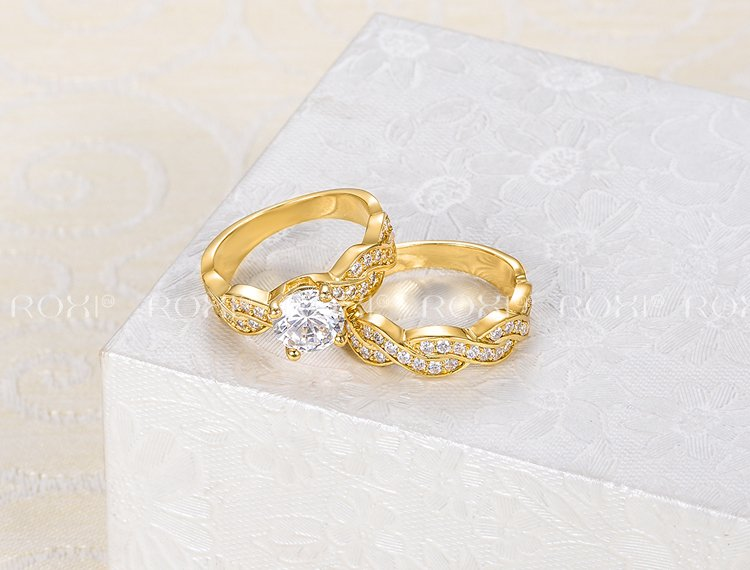 Factory-fairly Lovely Couple Wedding Rings,Tin alloy couple rings Jewelry