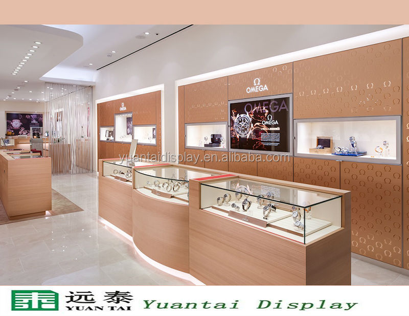 2018 Mall Luxury Commercial Watch Display Kiosk Watch