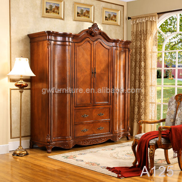 Wooden almirah designs wardrobe buy wooden almirah designs wardrobe popular style 4 doors - Bedroom almirah designs ...