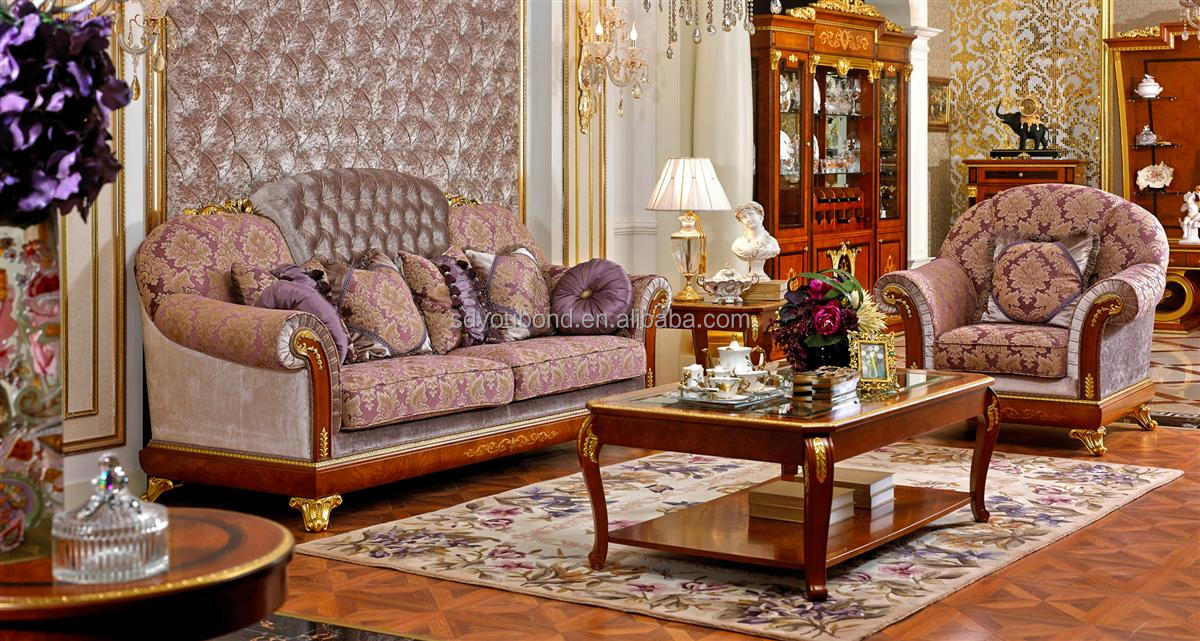 0038solid Living Room Furniture Luxury European Classic