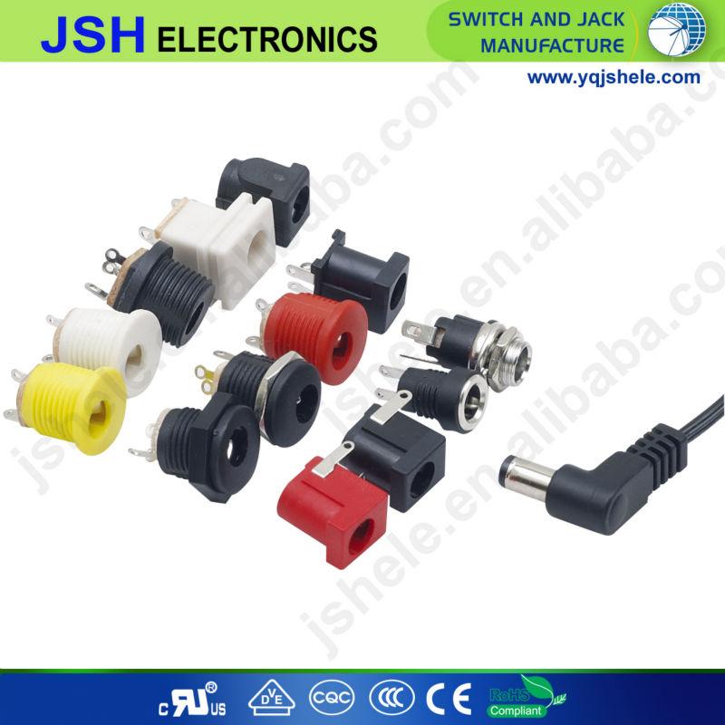 Metal Chassis socket Plug connector 5.5//2.1 DC Socket DC Jack  SALE