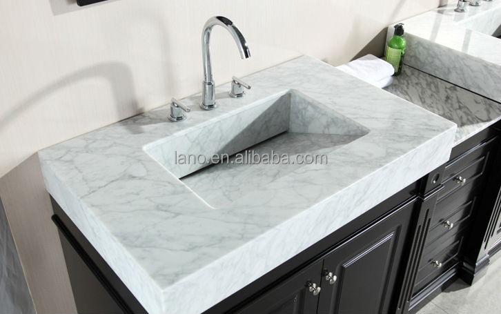 90 Inch Double Bathroom Vanity 90 inch double sink bathroom vanity carrera white marble