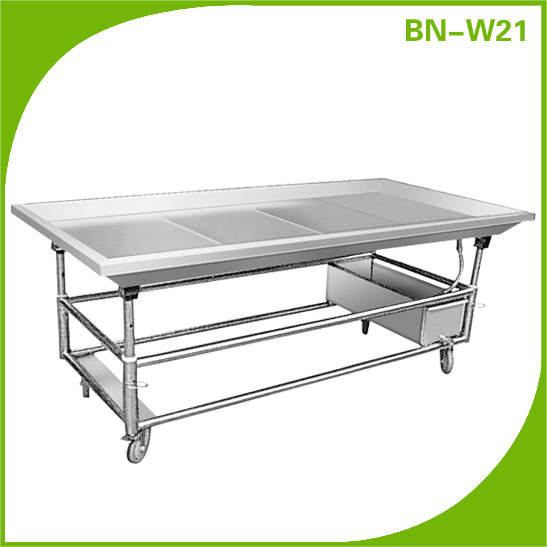 Delightful Cosbao Stainless Steel Fish Cleaning Table Sea Food Clean Work Table