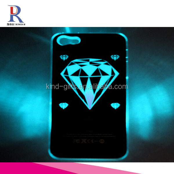 New Brushed Pattern Sense Diamond LED Flash Light Hard Case KDLPC029