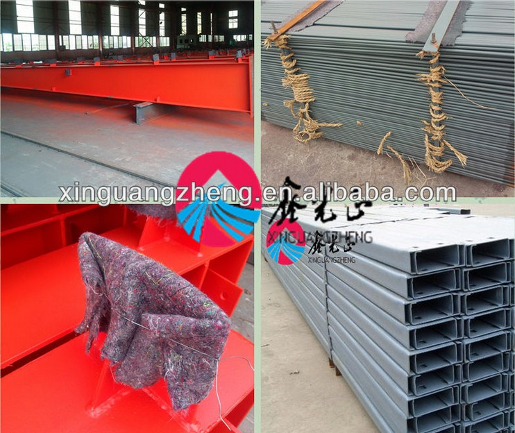 prefab light steel structure terminal warehouse/plant in China