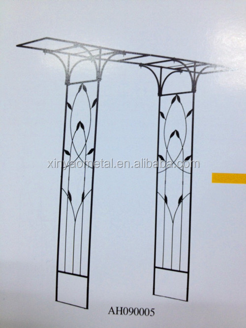 Metal Garden Arch Designs Garden Arch With Flat Top Garden Flower Arch  AH090005